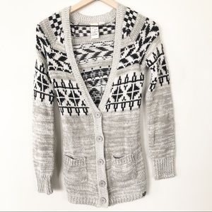 Billabong Fair Isle Knit Cardigan